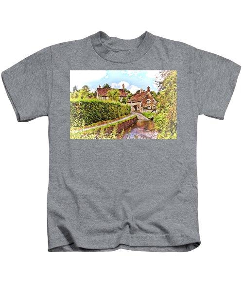 Tranquil Stream Lacock Kids T-Shirt