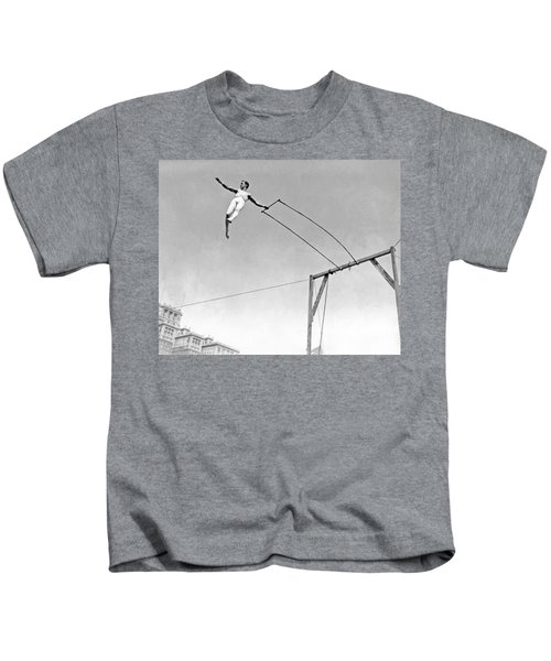 Trapeze Artist On The Swing Kids T-Shirt