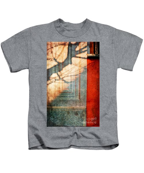 Tree Branches Shadow On Wall Kids T-Shirt