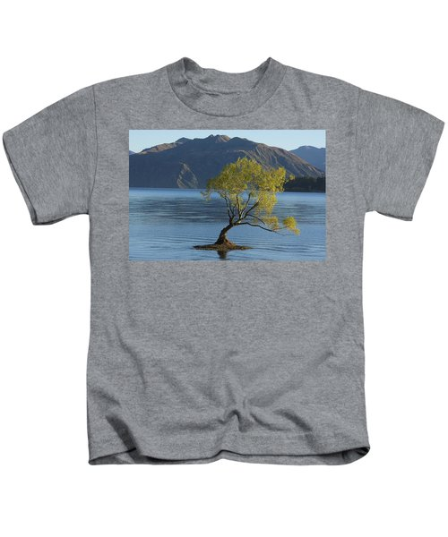 Tree In Lake Wanaka Kids T-Shirt