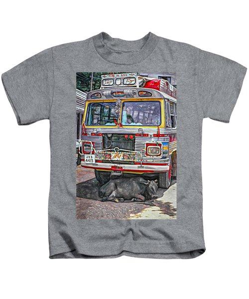 Trust In God Paint Kids T-Shirt