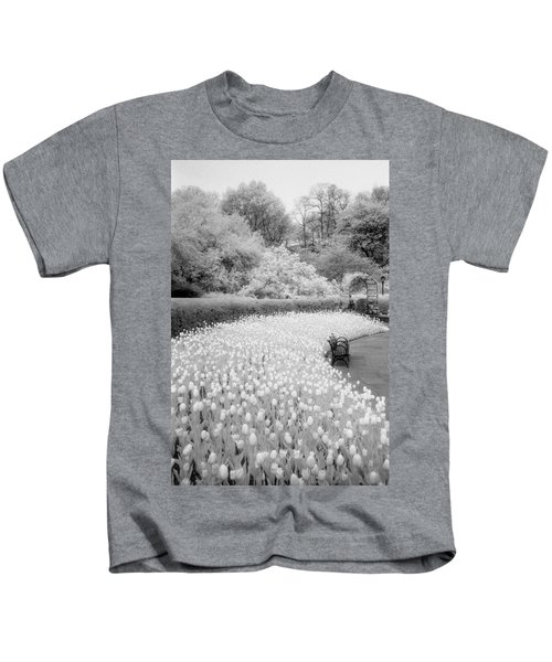 Tulips And Bench II Kids T-Shirt