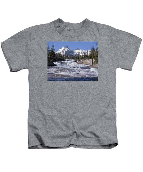 6m6539-tuolumne River  Kids T-Shirt