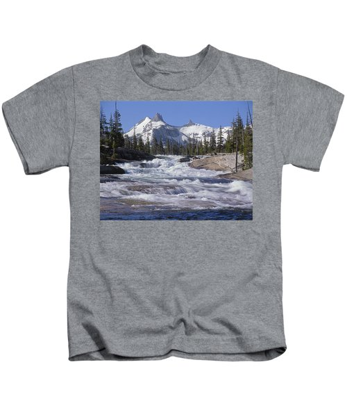6m6539-tuolumne River  Kids T-Shirt
