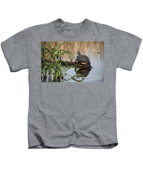 Turtle Reflection Kids T-Shirt