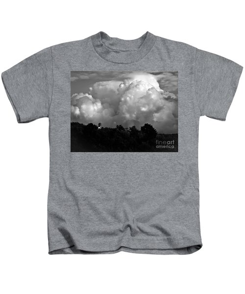 Tuscan Storm Rising From The Valley Kids T-Shirt