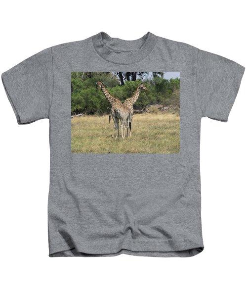 Two Giraffes Giraffa Camelopardalis Kids T-Shirt