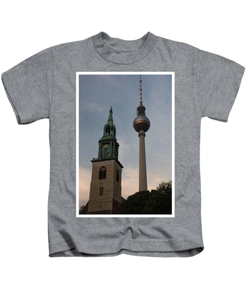 Two Towers In Berlin Kids T-Shirt