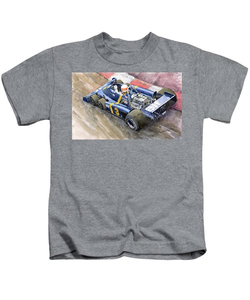 Tyrrell Ford Elf P34 F1 1976 Monaco Gp Jody Scheckter Kids T-Shirt