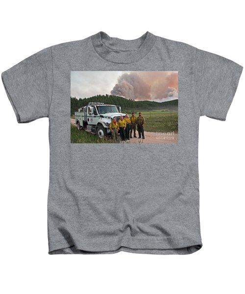 Umpqua Engine 25 On Myrtle Fire Kids T-Shirt