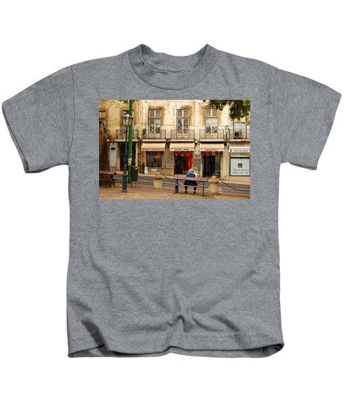 Lisbon Street Scene Kids T-Shirt