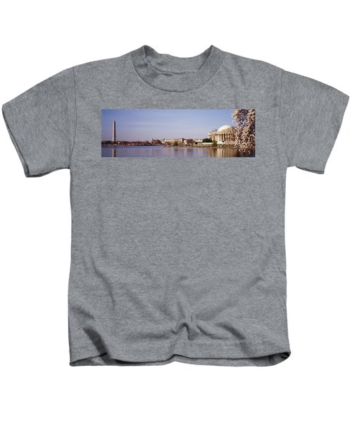 Usa, Washington Dc, Washington Monument Kids T-Shirt by Panoramic Images