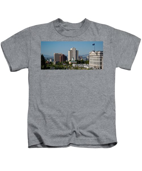Utah State Capitol Building, Salt Lake Kids T-Shirt by Panoramic Images
