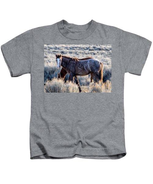 Velvet - Young Colt In Sand Wash Basin Kids T-Shirt