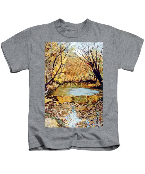 View From The Covered Bridge Kids T-Shirt