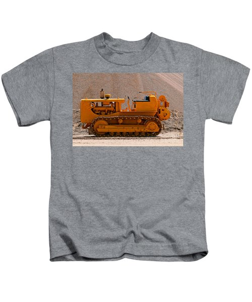 Vintage Bulldozer Kids T-Shirt