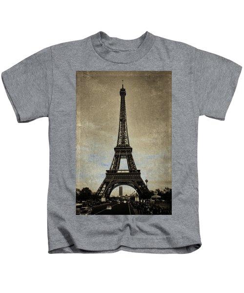 Vintage Eiffel Bronze Kids T-Shirt