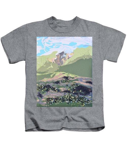 Volcano In The Mist Kids T-Shirt