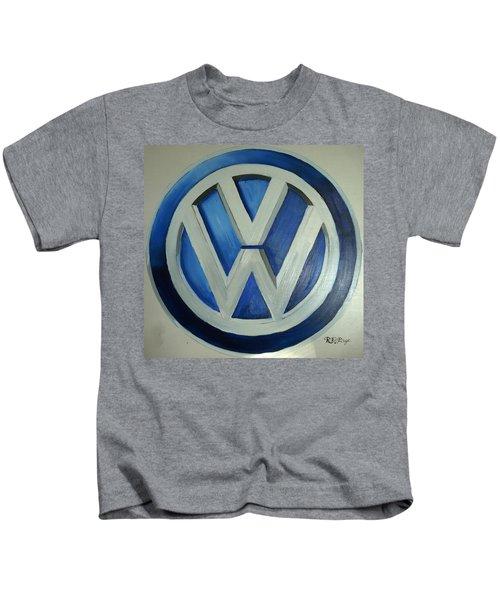 Vw Logo Blue Kids T-Shirt