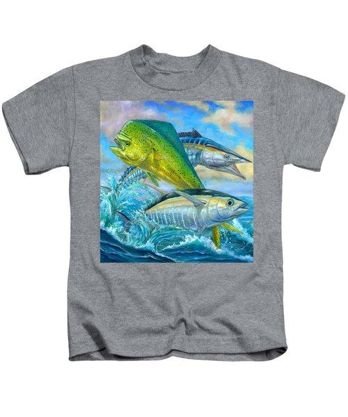 Wahoo Mahi Mahi And Tuna Kids T-Shirt