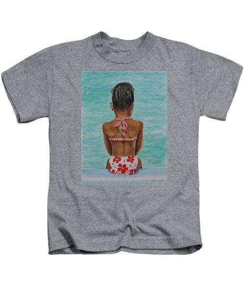 Waiting To Swim Kids T-Shirt