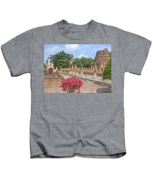 Wat Phra Chao Phya-thai Buddha Images And Ruined Chedi Dtha004 Kids T-Shirt