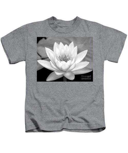 Water Lily In Black And White Kids T-Shirt