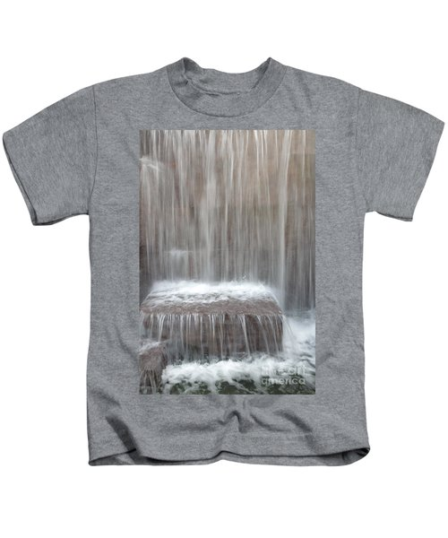 Waterfall At The Fdr Memorial In Washington Dc Kids T-Shirt