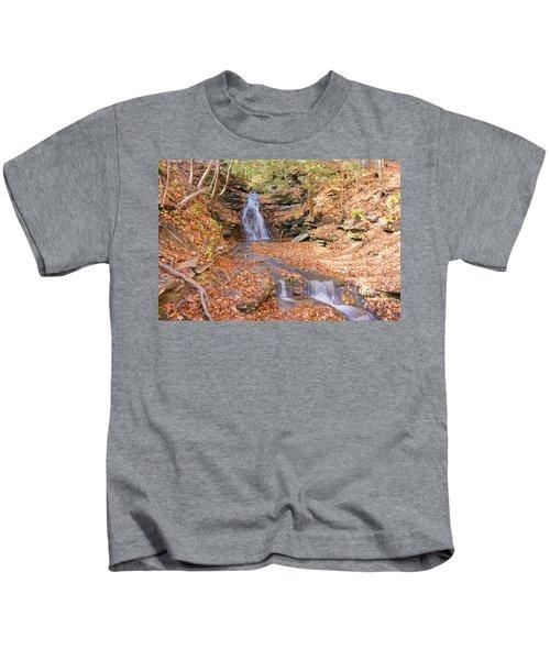 Waterfall In The Fall Kids T-Shirt