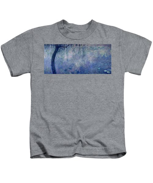 Waterlilies Two Weeping Willows Kids T-Shirt