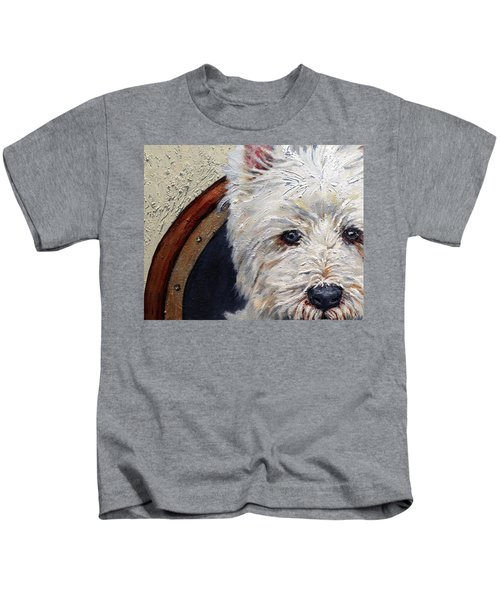 West Highland Terrier Dog Portrait Kids T-Shirt