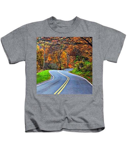 West Virginia Curves 2 Kids T-Shirt