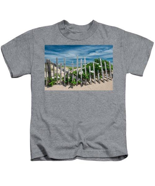 White Beach Roses Kids T-Shirt