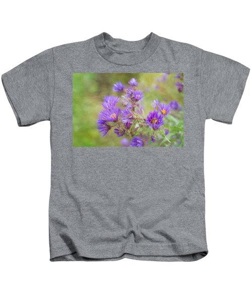 Wild Flowers In The Fall Kids T-Shirt