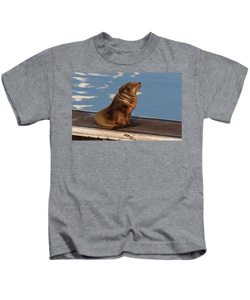 Wild Pup Sun Bathing - 2 Kids T-Shirt