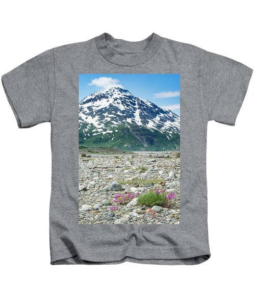 Wildflowers Along The Shores Kids T-Shirt