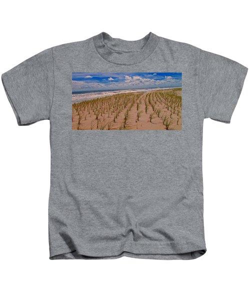 Wildwood Beach Breezes  Kids T-Shirt by David Dehner
