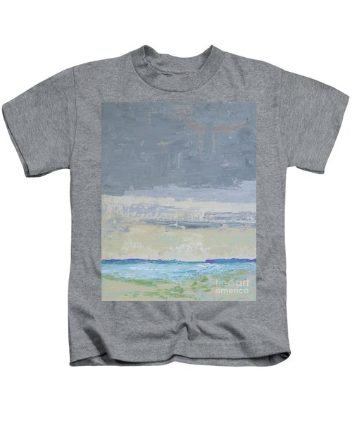 Wind And Rain On The Bay Kids T-Shirt