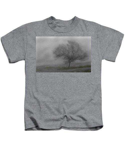 Wind Swept Tree Kids T-Shirt