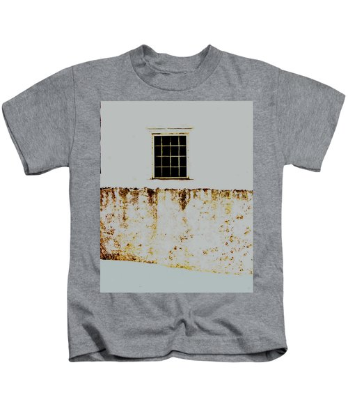 Window Wall And Snow Kids T-Shirt