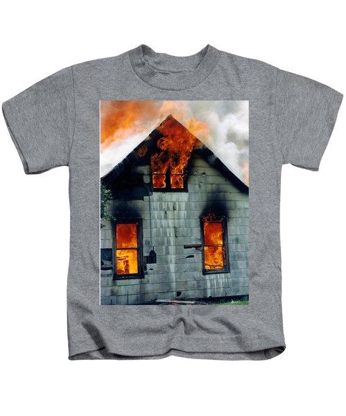 Windows Aflame Kids T-Shirt