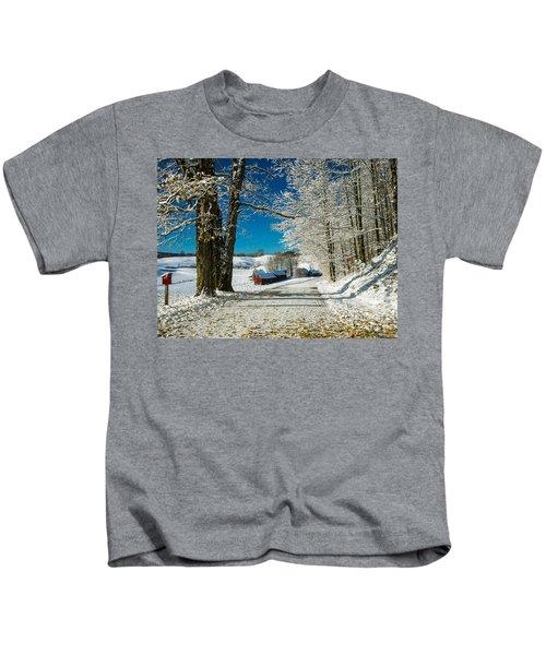 Winter In Vermont Kids T-Shirt