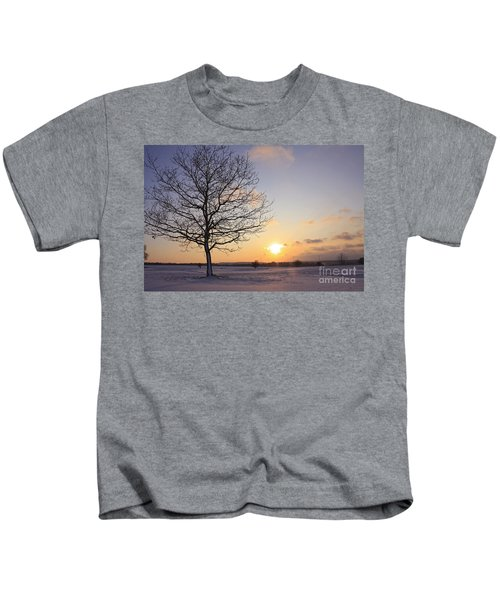 Winter Sunset Uk Kids T-Shirt