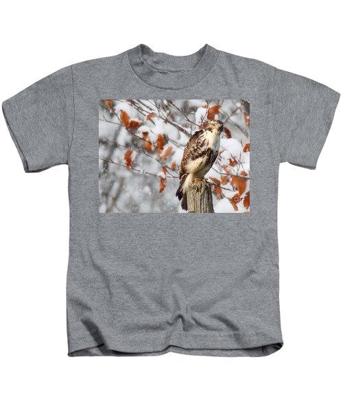 Winter Visitor  Kids T-Shirt