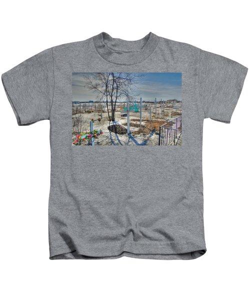 Wintery Grave Kids T-Shirt