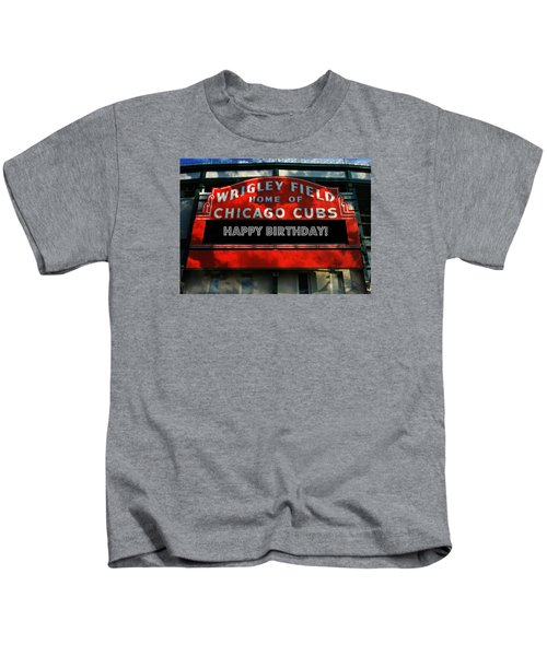 Wrigley Field -- Happy Birthday Kids T-Shirt