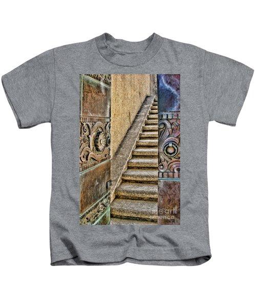 Wrigley's Bronze Doors By Diana Sainz Kids T-Shirt