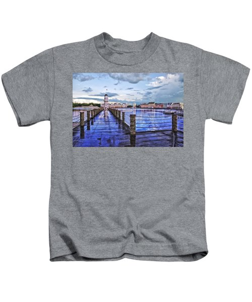 Yacht And Beach Club Lighthouse Kids T-Shirt