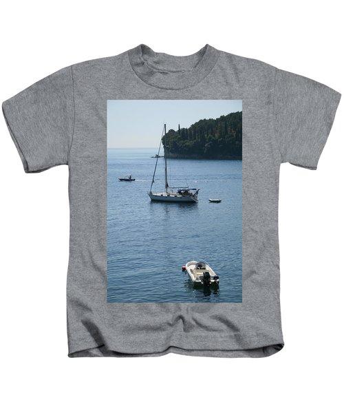 Yachts At Anchor Kids T-Shirt