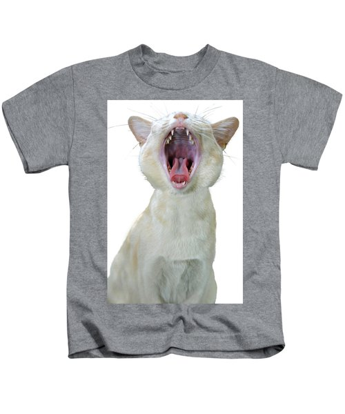 Yawning Cat Kids T-Shirt